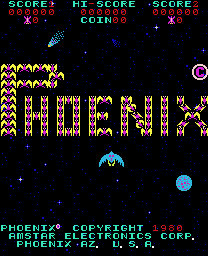 Phoenix (Amstar) - Menus Title Screen -  - User Screenshot